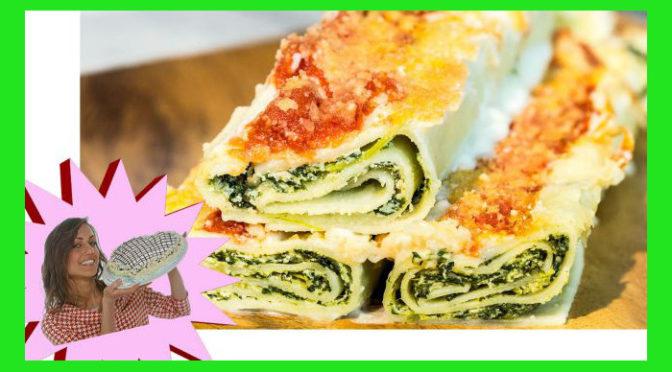 (Italiano) Cannelloni vegani con tofu e spinaci